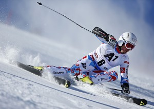 SOELDEN, AUSTRIA - OCTOBER 26: Thomas Fanara of France competes during the Audi FIS Alpine Ski World Cup Men's Giant Slalom on October 26, 2014 in Soelden, Austria. (Photo by Hook Baderz/Agence Zoom)
