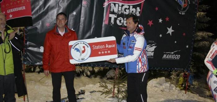 Gerardmer - Remise du panneau Station Amie des Equipes de France de Ski et de Snowboard