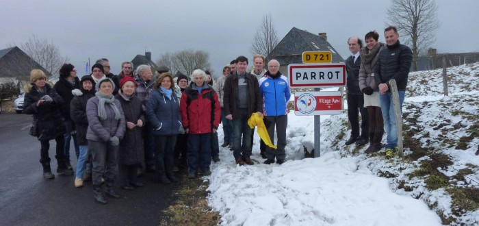 Parrot - Inauguration du panneau Village Ami des Equipes de France de Ski et de Snowboard